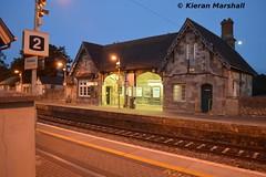 Portlaoise station, 7/9/14 (hurricanemk1c) Tags: irish train rail railway trains railways irishrail 2014 portlaoise iarnród éireann iarnródéireann ghoststation duskphoto