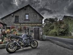 FZ1 Knockerdown (RichardK2019) Tags: pub 5 derbyshire yamaha hdr fz1 augustbankholiday photomatix typicalweather knockerdown nikond7100