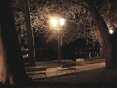 Ulična svjetiljka i klupe, Slavonski Brod