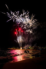 Fireworks II (Caballerophotos) Tags: sea españa beach night noche mar spain fireworks playa ibiza fuegosartificiales