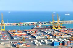 BCN Harbour (jorapa) Tags: barcelona espaa port harbour bcn shift catalonia catalunya tilt catalua montjuic tiltshift jorapa