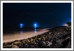Pier (@K-Art StudioS) Tags: ocean light sea india rock night pier kart chennai tamilnadu karthik nighr karthikc illumating kartstudios karthikchandrasekar