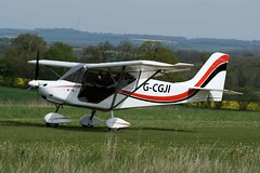 G-CGJI (IndiaEcho Photography) Tags: england canon airplane eos fly airport ninja aircraft hampshire off aeroplane best microlight popham basingstoke airfield in skyranger eghp 1000d gcgji