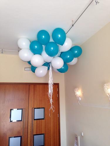 Heliumballonnen Turquoise Wit Oude Stadhuis Spijkenisse