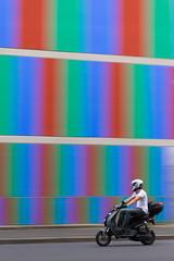 STUDIO24 (SylvainMestre) Tags: street colour wall studio scooter 24 rue mur couleur emile icm villeurbanne studio24 intentionalcameramovement decorps