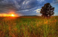 Prairie Sunset (ap0013) Tags: sunset illinois cloudy explore batavia prairie fermilab hdr bataviail bataviaillinois