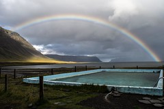 Bow from a rain (KasparsDz) Tags: water pool landscape iceland rainbow westfjords