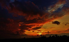 chaos... (BillsExplorations) Tags: storm stormscape stormlight chaos turmoil sky clouds sunset dusk weather silhouette illinois