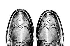 "Shine on ! (CJS*64 ""Man with a camera"") Tags: shoes brogues feet toes shine shineon black blackwhite bw blackandwhite whiteblack whiteandblack mono monochrome nikon nikkorlens nikkor nikond7000 dslr d7000 cjs64 craigsunter cjs abstract lace laces"