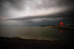 Long tail cloud (Harry Kool) Tags: medemblik onweer weer ijsselmeer weather thonderstom rain evening sunset sun noordholland westfriesland