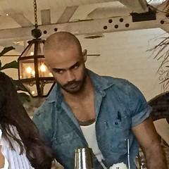 IMG_1006 (danimaniacs) Tags: friends beard scruff hot sexy man guy bald hunk bartender
