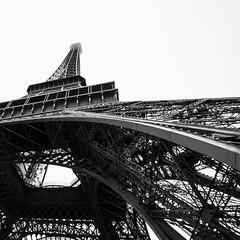Eiffel tower (Mathieu Calvet) Tags: canon 70d canon1022 1022 paris toureiffel eiffel tower carr square nb noiretblanc blackandwhite monochrome brume fog