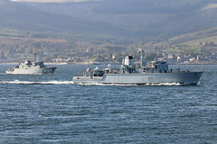 HMS Hurworth (M39) & LNVS Imanta (M-04) (corax71) Tags: lnvs imanta m04 alkmaarclass alkmaar tripartite tripartiteclass latvian latvia hnlms harlingen m854 latvijas juras speki jras spki exercise joint warrior 162 jw162 jw ship shipping boat vessel marine maritime transport transportation warship war armed force forces military naval nato cloch point gourock inverclyde scotland great britain united kingdom gb uk hms hurworth m39 huntclass hunt class minesweeper minehunter mine hunter sweeper countermeasures royal navy rn