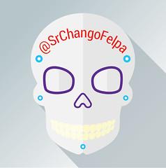 SrChangoFelpa (cygenta) Tags: avatar icono da de muertos calavera skull candy flat design gris grey nombre name tradicin tradiciones noviembre halloween mxico amrica latina octubre 2016