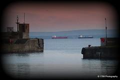 Anchored (Rollingstone1) Tags: kirkcaldy fife ships harbour water sea northsea evening marine maritime scotland outdoor dock dockbay