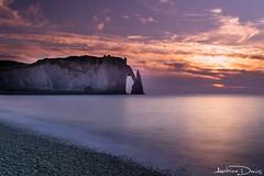 Etretat sunset // Normandy (tione76) Tags: tione76 nikon d5300 sunset coucher soleil eau mer sea paysage landscape colors fitre filter nd couleurs sky ciel normandie falaises cliff
