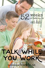 52 Weeks of Talking to Our Kids: Talk While You Work (Character Ink) Tags: father children greenhouse growing seeds gardening garden smiling flowerpot cress standing caucasian enjoying female outdoors lifestyle twopeople smile threequarterlength horizontal potting planting compost happy girl younggirl youngboy boy homegrown apron trowel mum woman together havingfun