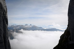 View from Jardin Alpin (oliko2) Tags: jardinalpin rochersdenaye lausanne switzerland mountain clouds sky autumn fall berge gebirge landschaft landscape schweiz view fog mist haze nebel wolken