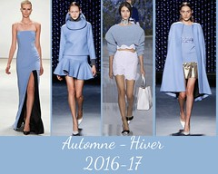style-airy-blue-AH-2016-17 (creationsrc) Tags: dfil podium mode fashion femme woman pantone airy blue bleu arien automne hiver fall winter 2016 2017 dress robe skirt jupe top haut pull short pastel cape
