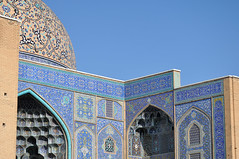Mosque du Cheikh Lotfollah (mop plaer) Tags: iran perse persia ispahan isfahan esfahan cheikhlotfollah mosque mosque religion god dieu islam musulman muslim dme dome bleu blue