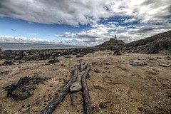 The point of no return (Jon_Wales) Tags: mumbles gower lighthouse swansea wales seaside sea shore autumn water rocks railway points sand tide