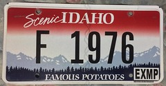 IDAHO EXEMPT c.2015 ---FIREFIGHTER PLATE (woody1778a) Tags: usa american licenseplate numberplate registrationplate mycollection myhobby state unitedstates idaho firefighter exempt