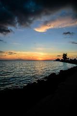 Florida Sunset (Emily Kistler) Tags: america beach d750 evening florida nature nikon outdoors usa unitedstates stpete stpetersburg ocean atlanticocean tampabay gulf marine travel sunset landscape silhouette sky clouds sun