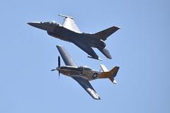 Heritage Flight P-51D F-16 Viper (steevosmith21) Tags: f16c viper california capital airshow
