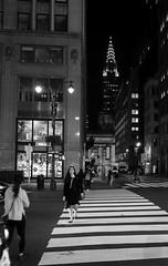 fifth av (@ntomarto) Tags: antomarto ntomarto usa us unitedstates statiuniti ny nyc newyork manhattan urban urbano città city citylife street strada bw biancoenero blackandwhite strisce stripes chrysler fifth fifthavenue chryslerbuilding