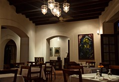 A Part of Cochin's History (The Spirit of the World) Tags: oldharbourhouse historical hotel boutiquehotel diningroom atmosphere mood dining tables wood india kerala southernindia heritagesite