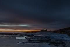 Bamburgh Castle Sunrise (Carl Mick) Tags: sky northumberland longexposure coast eastcoast sunrise northeastcoast bamburghsunriseseascapecastle leefilters northeast sea