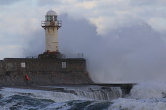 Storm (dave.pix2013) Tags: southgare hightide teesmouth lighthouse