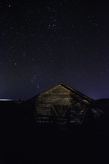 Night (salas-3) Tags: night stars sky landscape building light nikon iso noise finland