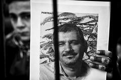 . (Thorsten Strasas) Tags: bascharalassad basharalassad berlin fsa fahne flagge kundgebung mitte opposition schild schwarzwei syrer syria syrians syrien tiergarten detainees dissidents flag jail prison prisoners protest rally regime sign germany de