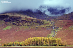 Atmospheric Buttermere in Autumn, English Lake District. UK (Wend's photography) Tags: autumn atmosphere autumnal alpine atmospheric buttermere britain district lake england english hills fells landscape lakes lakedistrict mountains outdoor scenery trees tranquil uk waterscape waterfall water photography