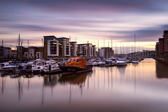 Sunset Marina (~g@ry~ (clevedon-clarks)) Tags: sunset marina portishead reflections northsomerset bristol rnli longexposure 10stopnd hitechfilters