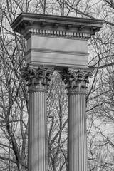 Monument (K.G.Hawes) Tags: architectural architecture art cemetery column columns corinthian grave graves gravestone graveyard sculpture stone stonework bw blackandwhite monochrome
