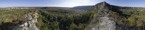 360° panorama of the valley of Rusenski Lom River, 12.10.2014.