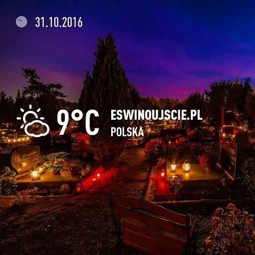 #pogoda #świnoujście #swinoujscie #cmentarz #wszystkichswietych #uznam #usedom