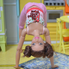 day 11 (pinkperfectplasticworld) Tags: djy08 barbie pink perfect plastic world int jour day nikon doll dolls poupe poupes puppen bambole poppen bonecas dockor nuket dukker  yoga     blue top fitness bambi made move mtm 2015 mueca muecas mattel 16 sport