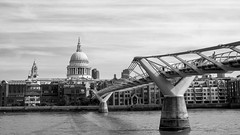 Can't help but wonder where I'm bound (OR_U) Tags: 2016 oru uk england london riverthames stpaulscathedral millenniumbridge river bridge church city skyline 169 widescreen bw blackanwhite blackwhite schwarzweiss architecture tompaxton buildings