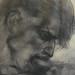 DELACROIX Eugène,1822 - La Barque de Dante, le Damné, l'Homme mordant la Barque, Etude (drawing, dessin, disegno-Louvre RF6161) - Detail 09