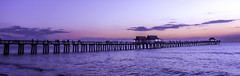 Nightfall in Naples (C. P. Ewing) Tags: sunset sundown nightfall night gulf ocean water pier color colorful sun cloud clouds wave waves nature natural outdoor outdoors landscape seascape landscapes seascapes wideangle