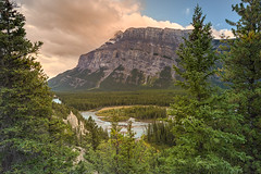 Banff Hoodoos (Heather_K_Jones) Tags: alberta banff banffhoodoos banffnationalpark canadianrockies jaspernationalpark rockymountains canada forest hoodoos landscape mountains nature rockies scenery scenic tourism touristattraction travel trees woods