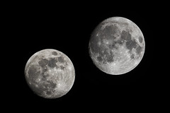 micro and super (Marc McDermott) Tags: perigee apogee supermoon micro moon super space night comparison