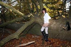 IMG_5339 (Kira Dede, please comment my photos.) Tags: kiradede kirad 2016 crossdresser copenhagen lingerie stockings upskirt dyrehaven