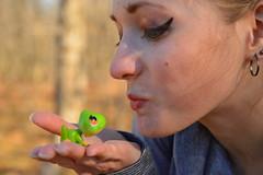 A kiss for the prince (radargeek) Tags: frog toy lps oklahomacity okc bluffcreekpark park november 2016 kiss littlestpetshop