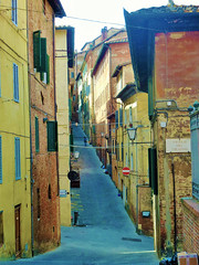 Lonely Alley (glowygirl) Tags: italy italian siena street streets alley alleys alleyway city urban