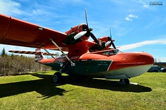 PBY-5a Canso Waterbomber (Catalina) (le Brooklands) Tags: avion d7000 gander newfoundlandlabrador northatlanticaviationmuseum pby5acansowaterbombercatalina plane sigma1224mm waterbomber