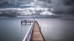 Sittin' on the dock of the bay (Chas56) Tags: jetty pier bay water beach longexposure ndfilter portphillipbay sorrento canon canon5dmkiii wideangle panorama friends clouds ngc 1635mm